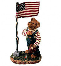 """Boyds Bearstone """"Sammy Bearmerican..I Pledge Allegiance"""" #227787 -NIB- R... - $22.99"""