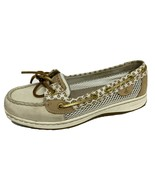 Sperry Top-Sider women's leather fabric upper boat shoes slip on size US 8M - $21.01