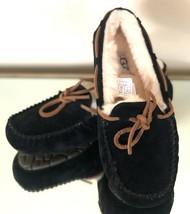 New UGG Dakota 5612 Black Suede Sheepskin Women's Slipers Moccasins 5 - $73.87