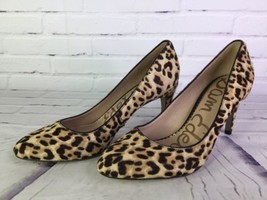 Sam Edelman Elise Brahma Hair Leopard Cheetah Leather Pumps Heels Shoes Size 7 - $66.82