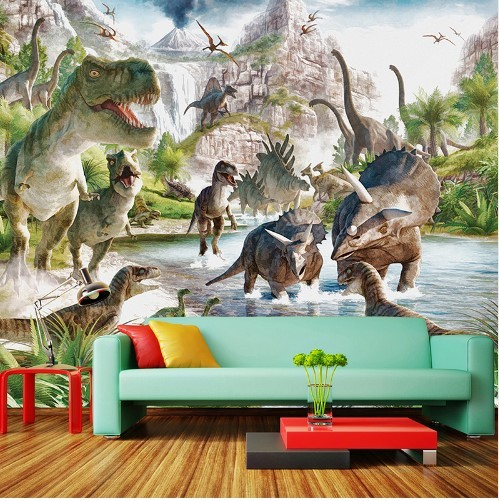3d Cartoon Dinosaur World Mural For Kids And 50 Similar Items