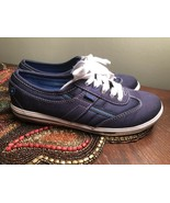 Keds Ortholite Navy  Blue Denim Lace Up Tennis Shoes Sneakers Women's 5 - $27.54