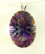 Beautiful Oval Mystic Topaz / Sterling Silver Pendant from KT Elegant Jewelry - $74.95