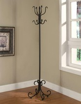 Sandy Black finish metal Coat Rack with Curved Feet - $51.73