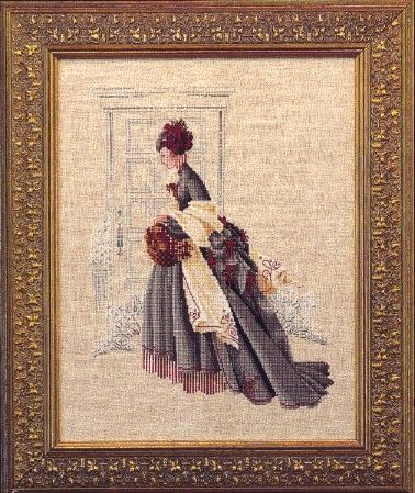 Primary image for Christmas Visit cross stitch chart Butternut Road Marilyn Leavitt-Imblum