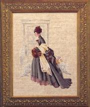 Christmas Visit cross stitch chart Butternut Road Marilyn Leavitt-Imblum - $10.80