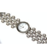 WW107 Stainless Steel Clear CZ Bubble Fashion W... - $24.99