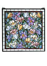 """Meyda Decoratives 22""""W X 22""""H Sugar Magnolia Stained Glass Window- 1235-... - $704.97"""