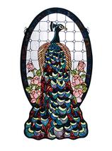 "Meyda 20""W X 38""H Peacock Profile Stained Glass Window- 1235-67135 - $871.29"
