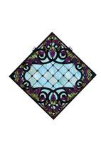 """Meyda 25.5""""W X 25.5""""H Jeweled Grape Stained Glass Window-Aqba Purple Xag... - $389.40"""