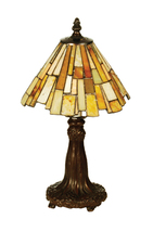 "Meyda Home Indoor Decoratives 13""H Jadestone Delta Mini Lamp-69762- 1235... - $177.66"