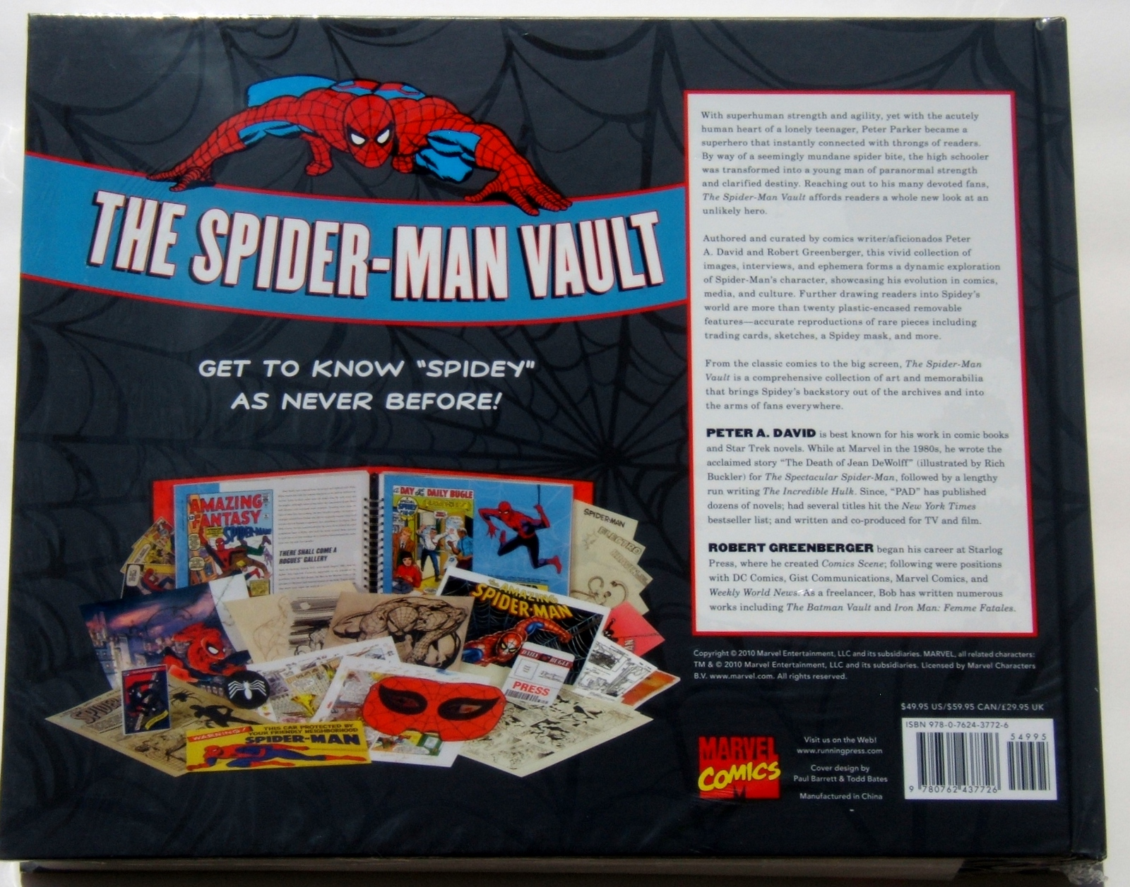 The Spider-Man Vault Museum In A Book w/Rare Collectibles Spun From Marvel