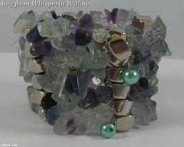 Tourmaline Matrix Gemstone Necklace / Bracelet Lariat - $24.95