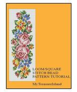 Bead Loom Floral Vertical Stripe Bell Pull Bracelet Pattern PDF - $6.00