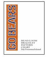 Chicago Bears Bracelet Go Bears Bead Loom Sports Bracelet Pattern PDF - $6.00