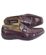 ADOLFO Brown Leather Loafer Shoes Dress Casual Mens Size 8 D US EUR 40 - $28.59