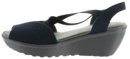Skechers Peep-Toe Sling Back Wedges Piazza Navy 8.5M NEW A302845 - $46.51