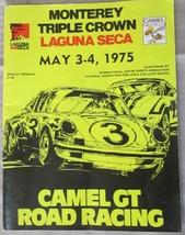1975 MONTEREY TRIPLE CROWN LAGUNA SECA OFFICIAL PROGRAM GUIDE [Paperback... - €27,98 EUR