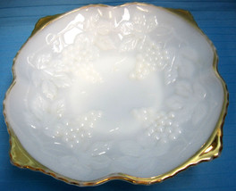 Bowl Anchor Hocking Milk White Glass Mid-Century Fruit Serving Candy Dish  - $29.95