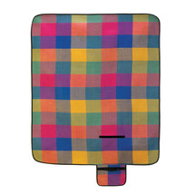Modern Plaid Folding Picnic Mat 10015110 - $20.25