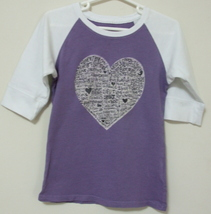 Girls Old Navy Purple White 3 quarter Sleeve Top Size XS - $3.95