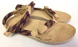 Teva Womens Original Universal Rope Suede Footbed Sandals Dark Purple 10... - $49.99