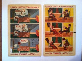 1909 AS Postcards (2) LIFE'S LITTLE TRAGEDIES IN THREE ACTS Ser L Walter... - $12.00