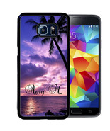 MONOGRAM RUBBER CASE FOR SAMSUNG NOTE 8 5 4 BEACH SUNSET - $12.98