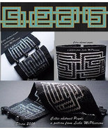 Loom Bead Pattern - Celtic Abstract Cuff Bracelet - $4.00