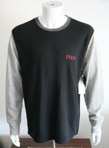 Polo Ralph Lauren Long Sleeve T Shirt Solid Black/Gray Size XL Soft Cotton - $41.74