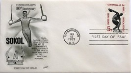 Feb. 15, 1965 First Day of Issue, Fleetwood Cover, Physical Fitness-Soko... - $1.73