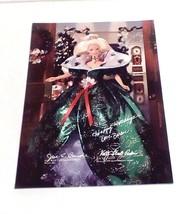 Happy Holidays Barbie Poster Print 1995 Signature Facsimile Creators/Des... - $19.80