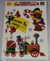 Christmas Window Cling Decorations ~ 10pc Set w/Six Re-usable Designs - $8.77