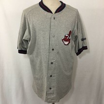 VTG Legends Cleveland Indians Jersey Chief Wahoo Gray Size XL MLB Baseba... - $29.41