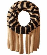 Lauren Ralph Lauren Striped Blanket Scarf ‑ Black/Frontier Tan - $57.90