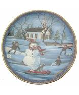 Buckley Moss Anna Perenna plate The Snowman Limited Edition of 7500 only... - $26.72
