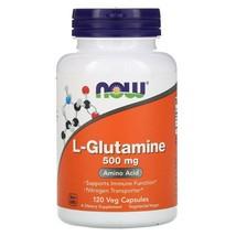 Now Foods L-Glutamine 500 mg 120 Veg Capsules - $24.55