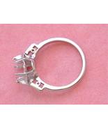 8.5 - 9 mm PLATINUM ENGAGEMENT RING MOUNTING w/ BAGUETTE DIAMOND SHOULDE... - $1,305.81