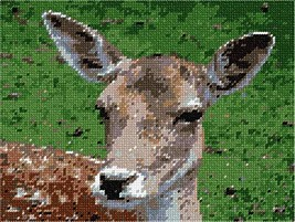 pepita Deer Close Up Needlepoint Kit - $95.00