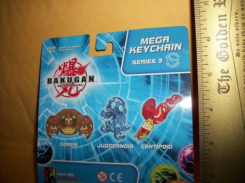 Bakugan Key Chain Toy Battle Brawlers Centipoid Series 3 Mega Keychain Figure