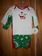 Carter Baby Clothes 0M-3M Christmas Holiday Pants Outfit Top Newborn Creeper Set - $14.24