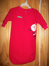 Carter Holiday Baby Clothes 0M-9M Newborn Christmas Santa Blanket Sleeper Bag - $18.99