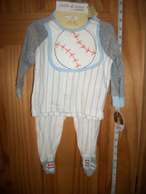 Carter Baby Clothes 3M-6M Newborn Baseball Pant Outfit Top Daddy All Star Set - $18.99