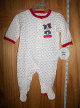 Carter Holiday Baby Clothes Newborn Valentine Footy Playsuit Puppy Heart Sleeper - $14.24