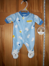Carter Baby Clothes Preemie Footed Daddy Cool Playsuit Polar Bear Bodysuit New - $14.24