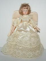 Vintage Kurt Adler Angel Christmas Tree Topper, Porcelain Face Arms,Table Sitter - $23.97