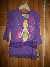 Disney Fairies Baby Clothes 2T Tinkerbell Toddler Hoodie Dress Tink Tinker Bell - $14.24