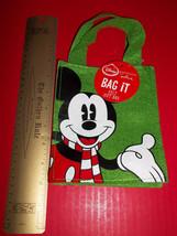 Disney Gift Bag Felt Mickey Mouse Hallmark Expressions Christmas Small T... - $9.49