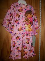 Dora The Explorer Baby Clothes 12M Pink Pajamas PJ Sleep Wear Pants Nick Top Set - $16.14