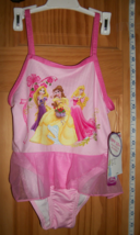Disney Princess Baby Clothes 4T Toddler Princesses Pink Ruffle Bathing Swim Suit - $14.24